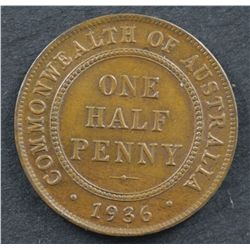 Australia 1936 Penny & Halfpenny Mint Red Uncirculated