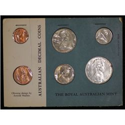 Australia Mint sets 1966, Cards of issue (3)