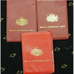 Australia Mint Sets 1970, 1971, 1974 As Issued
