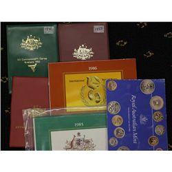 Australia Mint Sets 1981, 1982, 1983, 1984,1985,1986
