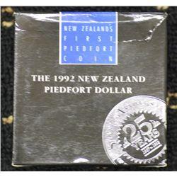 New Zealand 1992 Piedfort $1, Scarce