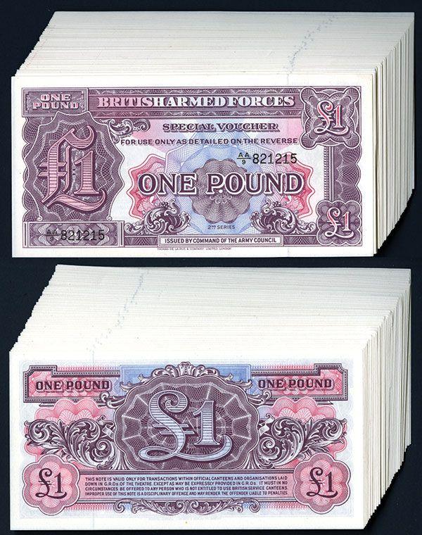 UNC Great Britain P M22-1 Pound 1948 2nd Series