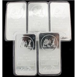 BULLION: 10 troy ounce 999 silver bar; Silver Towne, LP; sealed in soft plastic; Serial 215396 (6 wi