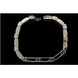 BRACELET: [1] 14KWG bracelet (8.25 in.) set with 285 round cut dia.s, approx.  5.70 cttw., G-I, VS2-