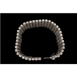 BRACELET:  10KWG (acid tested) bracelet set with 317 rd diamonds, approx. 19.90cttw (avg. 0.065 cts,