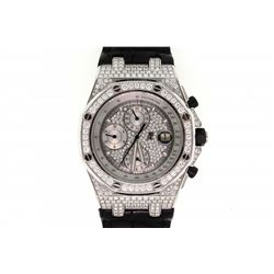 WATCH: [1] 18KWG gents Audemars Piguet Royal Oak Offshore Chronograph automatic watch with silver pa