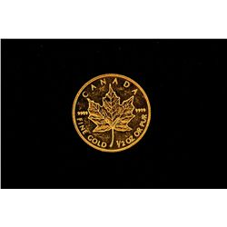 GOLD:  [1] gold Canadian Maple leaf coin, 1/2 oz.