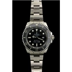 ROLEX: Men's st.steel Rolex O.P. SeaDweller DeepSea Date wristwatch; black index dial; black ceramic