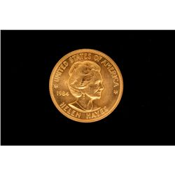 COLLECTIBLE: Ten (10) 1984 Helen Hayes American Arts commemorative gold coins; 900 AU (1.00 OZ avg e