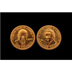 COLLECTIBLE: Twenty-five (20) 1983 Alexander Calder American Arts commemorative gold coins; 900 AU (