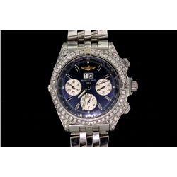 WATCH:  [1] Stainless steel gts., Breitling Windrider Crosswind Special Chronograph automatic watch