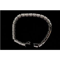 BRACELET: Men's 18kw channel set diamond link bracelet; 156 rb dias, 3.6mm-3.7mm = est 27.30cttw, V.