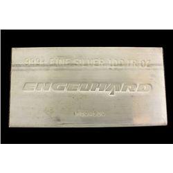 (1) Precious Metals: Engelhard 999+ Fine silver bar 100 troy oz. P804680