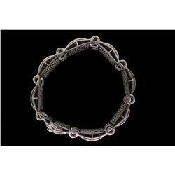 BRACELET: Men's 14kw diamond link bracelet; 384 rb dias, 1.9mm to 2.1mm = est 11.52cttw, Good/G-J/I2