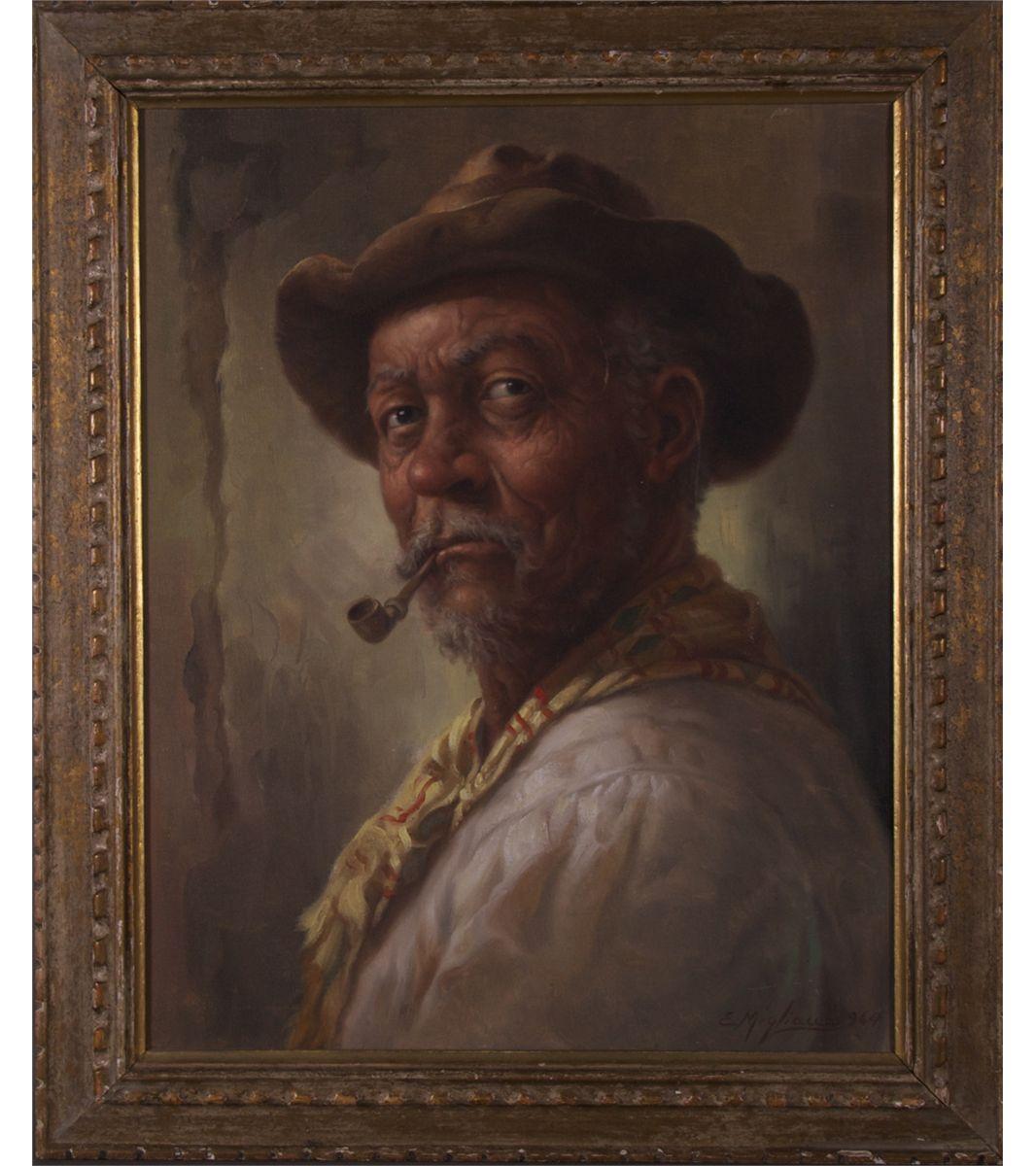 4a3867a12179 Edmundo Migliaccio (XX), Brazilian artist. Signed