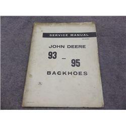 John Deere 93 - 95 Backhoes