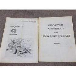 John Deere 40 Combines Manual