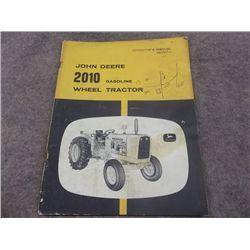 John Deere 2010 Gasoline Wheel Tractor Operators