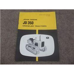 John Deere JD 350 Crawler Tractors Operators