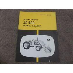 John Deere JD 400 Wheel Loader Operators