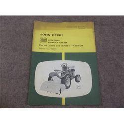 John Deere 30 Integral Rotary Tiller 110 L & G