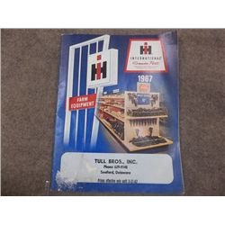 IH Parts Book 1967 Tull Bros