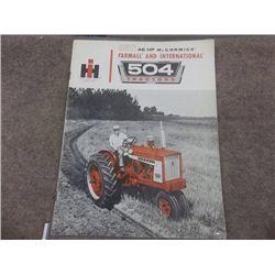 IH 46 HP McCormick Farmall & Int. 504 Tractors