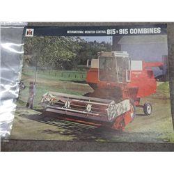 International 815 & 915 Combines