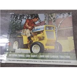 International Cub Cadet Lawn & Garden Tractors Ad.