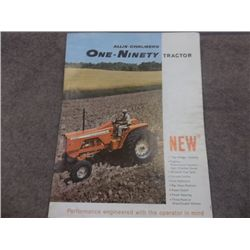 Allis-Chalmers One-Ninety Tractors Brochure