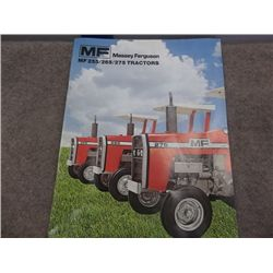 Massey Ferguson MF 255/265/275 Tractors Brochure