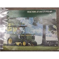 John Deere Tractors 22 & 27 PTO HP