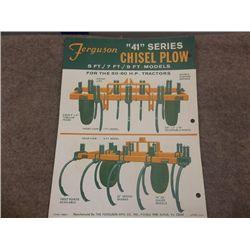"Ferguson ""40"" & ""41"" Series Chisel Plow"