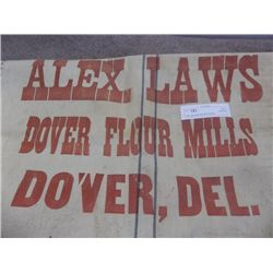 Alex Laws Dover Flour Mills Feed Bag