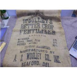 Woolley's Better Crop Fert. Feed Bag