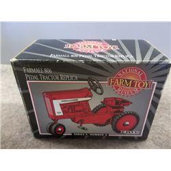Farmall 806 Pedal Tractor Replica