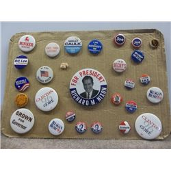 President Campaign Pins