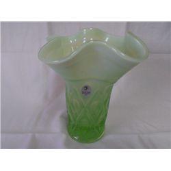 Fenton Flower Vase - Green