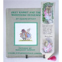GREY RABBIT AND THE WANDERING HEDGEHOG: by Alison Uttley, illustrated  by Margaret Tempest, toget...