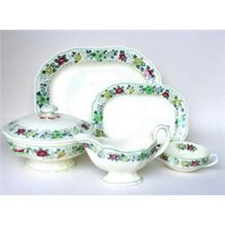 A COPELAND SPODE  NANCY  PATTERN DINNER SERVICE: comprising six 9.5   plates, six 9  plates, six...