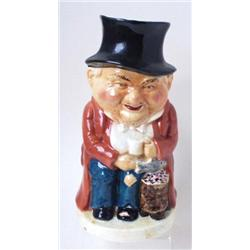 "A BURLINGTONWARE CHARACTER TOBY JUG: ""Watchman"", 9.5"" high Est.25-40..."