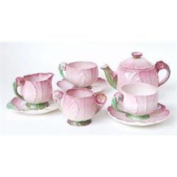 A CARLTONWARE BREAKFAST SET: number 1522, comprising two cups, two  saucers, sugar bowl, cream ju...