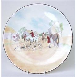 """A ROYAL DOULTON SERIES WARE CHARGER: number D6326 """"The Meet"""", signed  Charles Simpson, 13.25"""" dia..."""