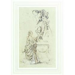 SIR WILLIAM RUSSELL FLINT (1880-1969) A LIMITED EDITION PRINT: No  292/850, young lady and classi...
