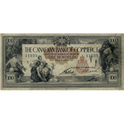 Canadian Bank of Commerce; 1917 $100 #11039 CH-75-16-02-12 PMG CH F15.  Nice example high denominati