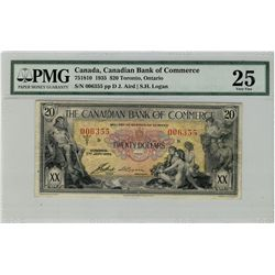 Canadian Bank of Commerce; 1935 $20 #006355 CH-75-18-10 PMG VF25.