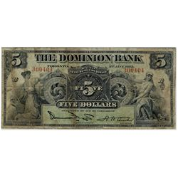 The Dominion Bank of Canada; 1925 $10 #300404 CH-220-16-14 PMG VG10.