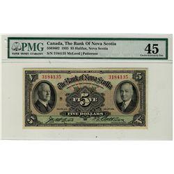 The Bank of Nova Scotia;  1935 $5 #3184135 CH-550-36-02 PMG EF45.