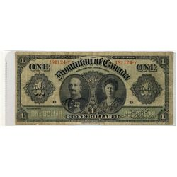 1911 $1 DC-18d-i #181124-Y  VF for grade with sml nicks.