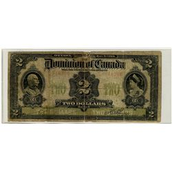 1914 $2 DC-22a #C-846206 VG10 for grade with minor rim issues.
